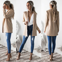 Women Ladies Long Sleeve Cardigan Fashion Casual Blazer Suit Jacket Coat Outwear