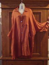 tienda ho sienna brown rayon big smock blouse M L XL 1X 2X 3X 4X ONE SIZE OSFM
