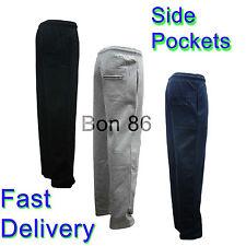 New Mens Soft Fleece Open Bottom Jogging Trouser Big Sizes 2XL-3XL-4XL-5XL-6XL