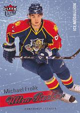 08-09 Fleer Ultra Michael Frolik /100 Rookie Ice Medallion