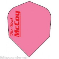 "McCOY ""THE REAL"" EXTRA STRONG DART FLIGHTS FLURO PINK"