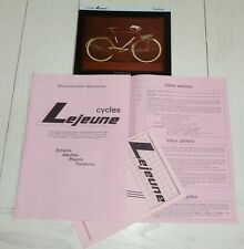 CATALOGUE DEPLIANT CYCLISME 1983 CYCLES LEJEUNE BICYCLETTE VELO