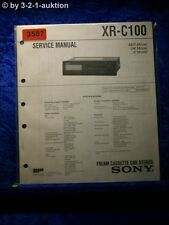 Sony Service Manual XR C100 Cassette Car Stereo (#3587)