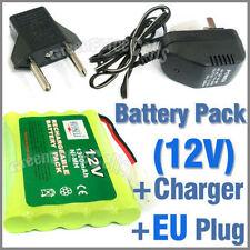 1 X 12 V 1300 mAh NiMH recargable batería Pack + 110-220 V Cargador con enchufe de la UE