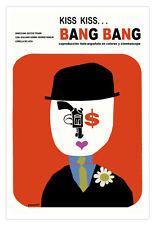 "Movie Poster for Italy Spain film""Kiss BANG""Elegant Bank Robber Tesari art.Decor"