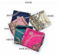 100% Pure Real Silk Scarf Luxury Wrap Large Square Women Shawl Neck Head Hijab