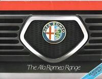 ALFA ROMEO 33,ALFASUD,SPRINT,GIULETTA,ALFETTA,GTV + ALFA 6 SALES BROCHURE 1983/4