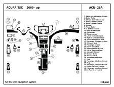 Acura TSX 2009-2014 with navigation system Real Carbon Fiber Dash Kit-Full kit