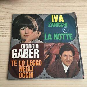 """Giorgio Gaber / Zanicchi_Te Lo Leggo negli Occhi_Vinile 45giri 6"""" Tascabile 1965"""