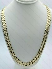 "18k Yellow Gold Finish Curb Cuban Link Chain Solid Necklace 22"" 9mm 54-56 gram"