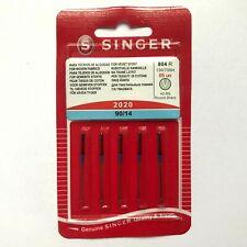 SINGER 5 Original Sewing Machine Needles, SIze 90/14 - Silver