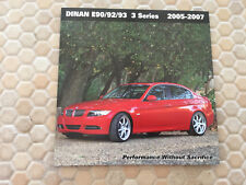 BMW DINAN E90 E92 E93 3 SERIES PERFORMANCE UPGRADE BROCHURE 2005 - 2007 USA Ed