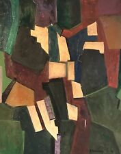 ARMAND ROTTENBERG (1903-2000) HUGE CUBIST ABSTRACT SIGNED OIL PAINTING - 1978