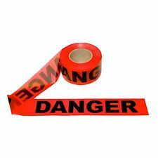 """One New Cordova Safety RED Danger Tape 2 MIL 3""""x1000'- Free Shipping"""
