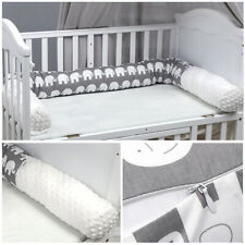 Baby Bed Crib Bumper Protector Infant Elephant Soft Cushion Bumper Game Pillow