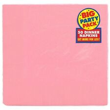 50 rose pâle serviettes de table (2 plis) Fête { 0p NP } bébé