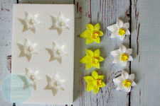 Silicone Mould, Small Daffodil repeat, Easter Spring Daffodils Flower M218