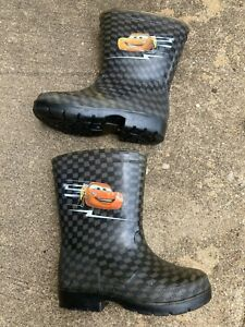 Toddler Boy's Rain Boots Cars Size 8 Shoes Lightning McQueen