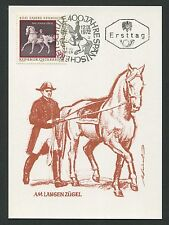 AUSTRIA MK 1972 REITSCHULE DRESSUR PFERD HORSE CARTE MAXIMUM CARD MC CM d1358