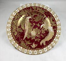 Royal Crown Derby Paradise Maroon # A1090 XX Bone China Plate 1965-70