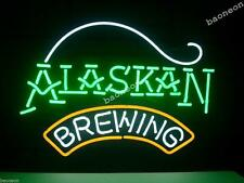 New New ALASKAN BREWING COMPANY HANDCRAFTED Real Glass BEER BAR NEON LIGHT SIGN