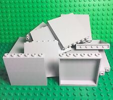 Lego New X14 Pc. Light Bluish Gray 1x6x5 Panel / Stone Grey Wall Parts Lot