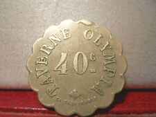 JETON PARIS TAVERNE OLYMPIA 40C TOKEN RESTAURATION