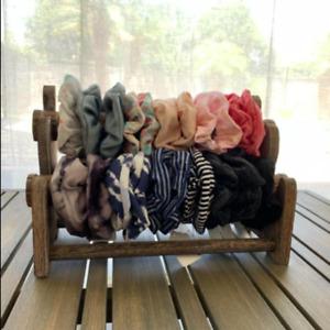 Wooden Scrunchie Storage Holder