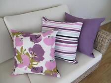 Set of 3 Mix & Match Purple/Teal Tones Linen Blend Cushion Covers 45cm
