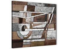 Brown Beige White Painting Bathroom Canvas Accessories - Abstract 1s407s - 49cm