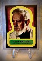 1977 BEN (OBI-WAN) KENOBI Sticker - Star Wars Vintage Card #9 - Series 1