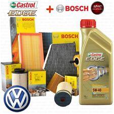 Kit tagliando olio motore CASTROL EDGE 5W40 5LT 4 FILTRI BOSCH VW GOLF 4 IV TDI