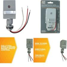 Woods 59411 59411Wd Outdoor Hardwired Stem Light Control With Photocell, Compati
