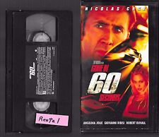VHS - GONE IN 60 SECONDS - 2000 - Nicolas Cage - Rental -=- Buy more & save!