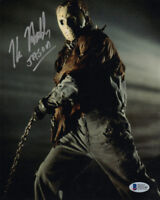 KANE HODDER SIGNED 8x10 PHOTO JASON VOORHEES FRIDAY THE 13th HORROR BECKETT BAS
