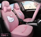 Hello Kitty Cartoon Car Seat Covers Set Universal Car Interior Pink