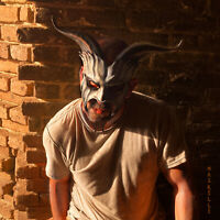 Grey Goat Mask by Maskelle Masks flexible comfy Badass Halloween costume adult