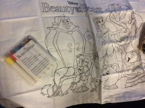 disney pillow case beauty and the beast color it yourself socks Belle LOT RARE