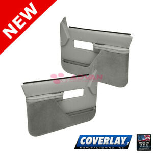 Light Gray Replacement Door Panels-Pair 18-27F-LGR For C1500 Pickup -Coverlay