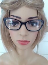 GREAT GUESS BLACK/RED LADIES PRESCRIPTION GLASSES FRAMES USED GOOD CONDITION