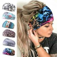 Women Wide Sports Yoga Gym Stretch Cotton Headband Head Hair Band AU