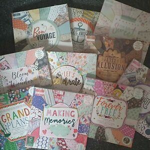 First Edition 6x6 Scrapbooking paper - Full Pack/Single sheets - Various designs