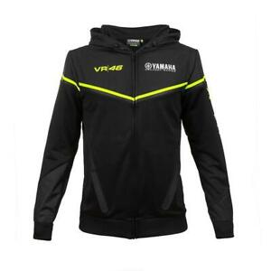 Hoodie Men's Yamaha VR46 black official collection Located in USA SMALL SIZE