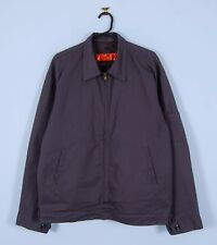 Vintage USA Worker Chore Jacket w/ Quilted Lining In Grey Large