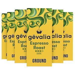 Gevalia Espresso Roast Dark Ground Coffee (12 oz Bag, Pack of 6)