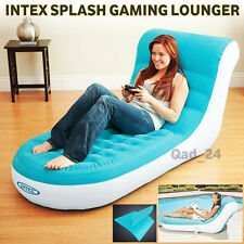 Intex Splash Lounge Inflatable Gaming Lounger Pool Chair Single Sofa AirBed Air