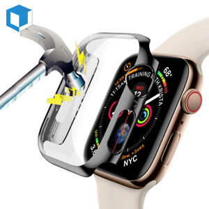 Apple Watch Series 6/SE/5/4/3/2 Full Body Cover Case Tempered Glass Protect 44mm