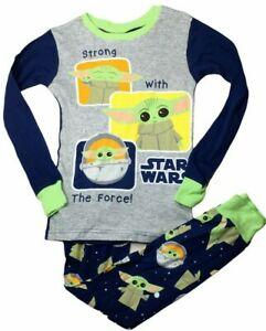 Star Wars Boy's Size 8 New 2 Piece Long Sleeve & Pants Crew Neck Yoda Sleepwear