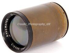 "DALLMEYER 12"" F/7.7 12 Inch F7.7 DALLON TELE-Anastigmat Vintage Brass Lens"
