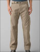 prAna Men's Zion Dark Khaki Hiking Trail Stretch Nylon Pants Sz 32 x 32